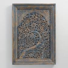 carved wood tree of wall hanging world market
