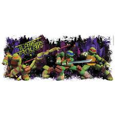 teenage mutant ninja turtles giant wall decal birthdayexpress com
