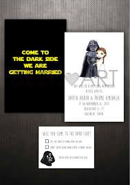 wars wedding invitations printable wars wedding invitation and rsvp by geekandart