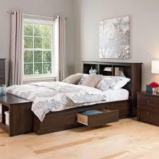 Storage Bed Prepac Fremont Queen Wood Storage Bed Ebq 6200 3k The Home Depot