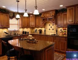 cute kitchen design cherry cabinets greenvirals style