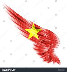 Viet Nam Flag Flag Vietnam On Wing White Background Stock Illustration 74400613