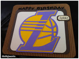 fluffyheartz birthday cards for lakers basketball team supporter