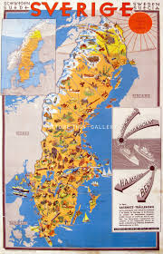 map of sweden picture this t656 sweden pictorial map