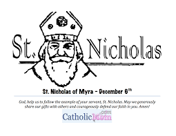 st nicholas coloring page printable catholicmom com
