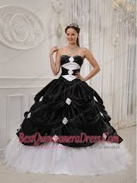 black and white quinceanera dresses black and white gown sweetheart floor length taffeta and