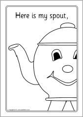 i u0027m a little teapot colouring sheets sb4285 sparklebox