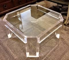 fresh lucite acrylic waterfall coffee table 20451