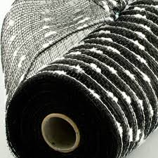 white deco mesh 10 snowball deco mesh black white 10 yards ry820262