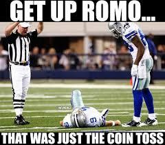 Romo Interception Meme - nfl memes on twitter how will tony romo start the nfl season