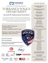 american honda motor co inc torrance police department awards u0026 appreciation luncheon tacc