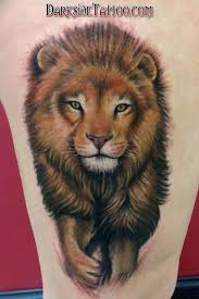 color lion tattoo by dave racci tattoonow