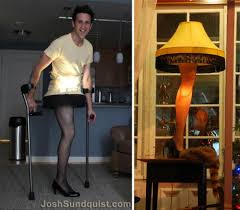 one legged cancer survivor makes a halloween costume every year