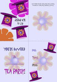 free u0026 printable tea party invitations mad hatter invitation 2b