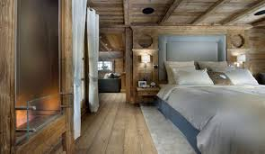 Rustic Modern Bedroom Ideas - bedrooms rustic modern bedroom with brown bed and small seat