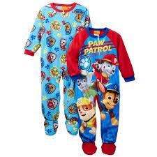 paw patrol toddler boys 2 pack sleeper pajamas
