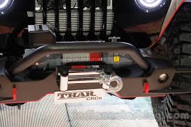 mahindra jeep thar 2016 mahindra thar custom winch at auto expo 2016 indian autos blog