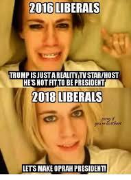 Oprah Winfrey Meme - 2016 liberals trump isjusta reality tv starhost he s not fitto be