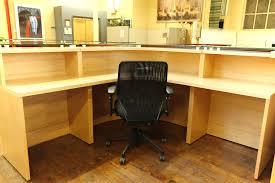 Arnold Reception Desks by Baldwin Glass Top Maple Reception Desk U2022 Peartree Office Furniture