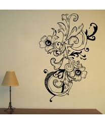 69 off on decor kafe flower floral wall decal on snapdeal