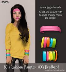 80s headbands second marketplace izzie s 80 s rainbow bangles 80 s