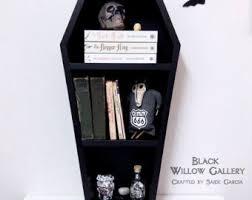 coffin bookshelf coffin shelf etsy