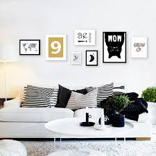 frameless picture hanging nordic canvas hanging frameless painting black cat map moon letters
