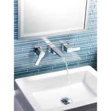 wall mount sink faucet wall mounted bathroom sink faucets you ll love