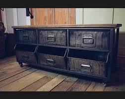 Metal And Wood Cabinet Vintage Industrial Credenza Metal Cabinet Wood And Metal