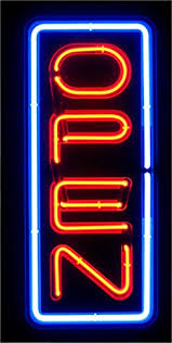 shop open sign lights amazon com vertical real glass bright neon open sign light not