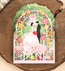 cards for marriage 3d laser cut flower palace wedding invitation cards marriage