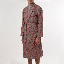 dressing gown liberty felix paisley dressing gown 100 soft cotton sir plus