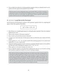 grade 9 mathematics unit 1 quadratic equations and inequalities