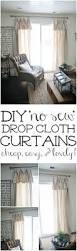 new curtains u0026 some diy no sew curtains drop cloth curtains diy