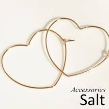 heart shaped earrings accessories salt rakuten global market heart shaped k14gf wire