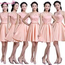 popular peach colored bridesmaid dresses buy cheap peach colored