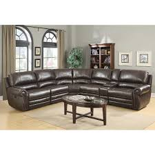 Rooms To Go Leather Recliner Baxter 6 Piece Top Grain Leather Reclining Modular Sectional