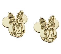 minnie mouse earrings disney minnie mouse stud earrings 14k gold qvc