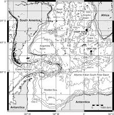 Southern Ocean Map Deep Sea Ostracods From The South Atlantic Sector Of The Southern