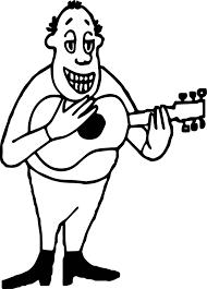 guitar player strumming guitar man coloring page wecoloringpage