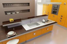 stratifié cuisine cuisine plan de travail de cuisine moderne foncé en stratifié