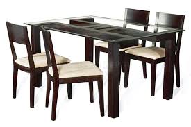 Wooden Base For Glass Dining Table Glass Dining Table With Wooden Base Interior Design Picture