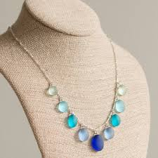 glass jewelry necklace images Sea glass necklace and earrings vivaterra jpg