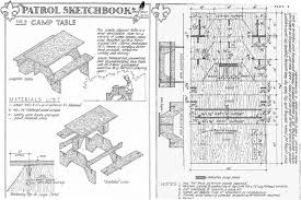 knock down picnic table plans cing table 1927 countryside lane
