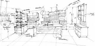 Kitchen Design Sketch Delighful Kitchen Design Sketch Intended Decorating