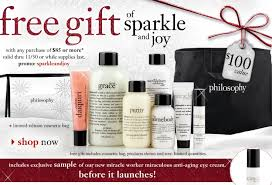 philosophy free gift with purchase 100 value my frugal