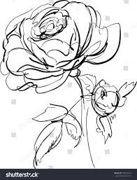 rose single stem rose drawing coloring page getcoloringpagescom