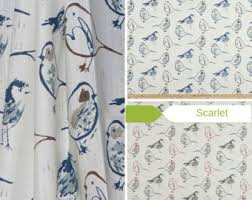 Toile Cafe Curtains Bird Valances Etsy