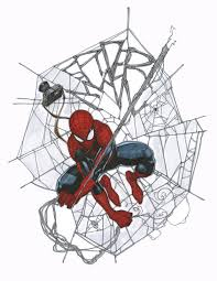 spider man with an awesome web sketch by travis charest image