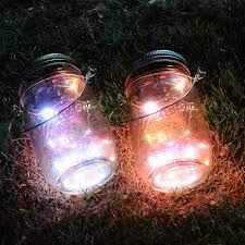 color changing solar string lights ithird solar mason jar lights 3 pack led color changing solar fairy